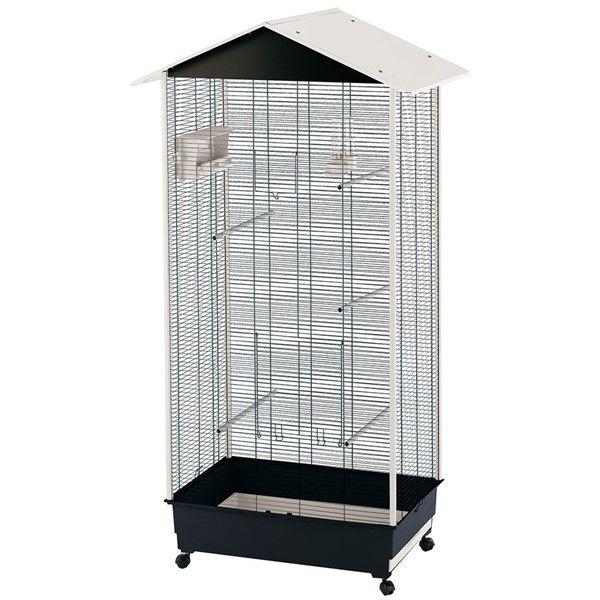 FERPLAST Volieră pentru canari şi păsări exotice NOTA, gratii negre 82x58x166cm