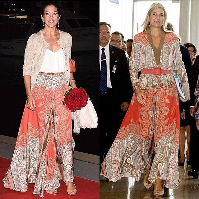 • Same skirt for Queen Maxima of the Netherlands and Crown Princess Mary of the Denmark . Who's your favorite? . #queen #queenmaxima ##QueenMáxima #queenmaximastyle #queenmaxima_same #queenmaxima_fashion #dutch #dutchroyal #netherlands #queenofthenetherlands #royal #royalty #royalstyle #royalfamily #royalpalace #royalfashion #fashion #fashionroyalty #style #same #samedress #dress #sameskirt #princess #princessmary #princessmaryofdenmark #denmark