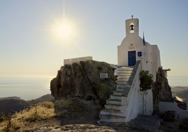 New day, new beginning- church of Agios Konstantinos, Serifos