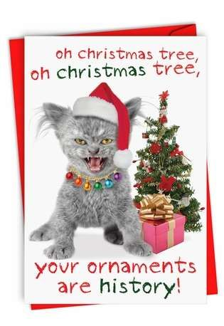 Your Ornaments Are History Card Christmas Pinterest Christmas