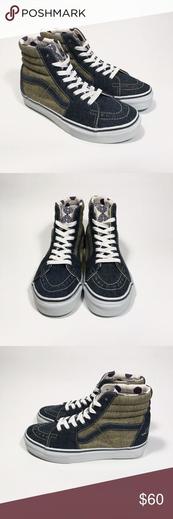 Vans Sk8-Hi Slim (Rivets) Mixte Adulte, Cuir Lisse, Sneaker High, 38 EU