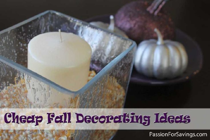 It's that time of year, time to Decorate for Fall and I have a few Cheap Fall Decorating Ideas that I wanted to share with you. These are simple ways you can add a little Fall to your home without spending a fortune! #falldecor #fallccrafts