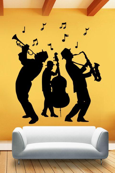 Jazz Band wall decal by WALLTAT.com