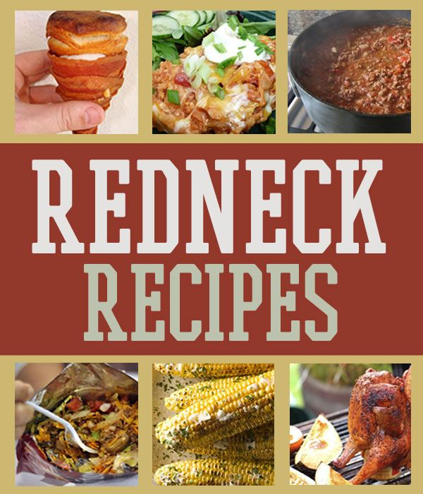 Redneck Recipes and Camping Food OMG... BaCone (cone made of bacon, filled with eggs and grits, topped with a biscuit)!