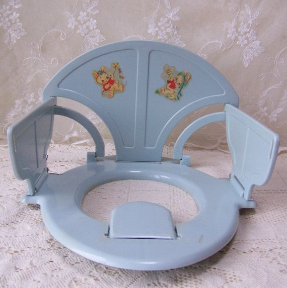 Vintage Potty Chair.Folding Potty Chair.Plastic Potty Chair.Potty Training Chair.Shabby Chic Baby.Child's Potty Chair.Toilet Seat.Retro Baby