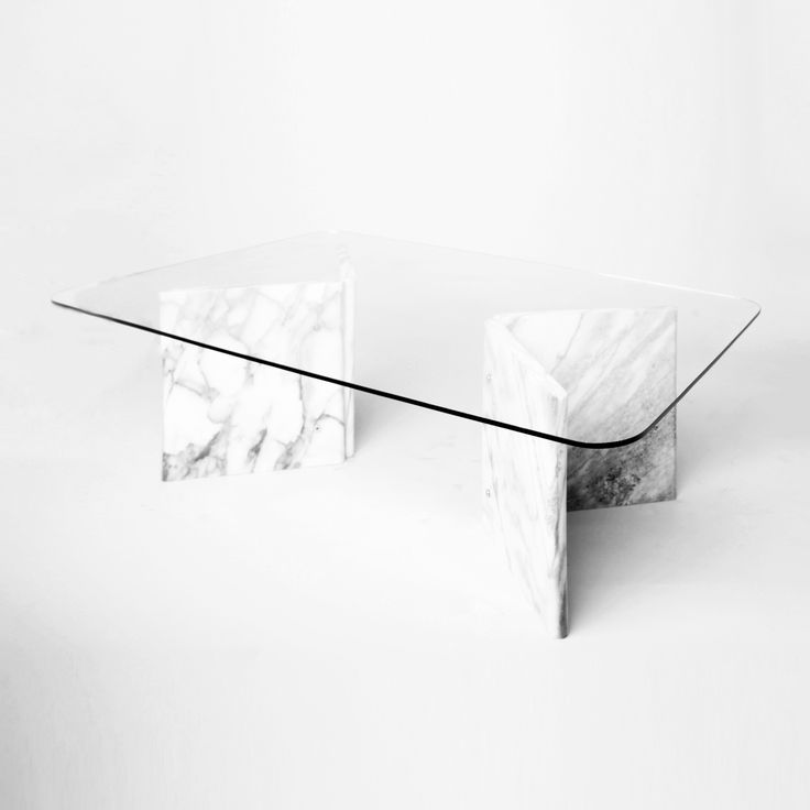 Beautiful And Clic Carrara Marble Coffee Table With Curved Edges