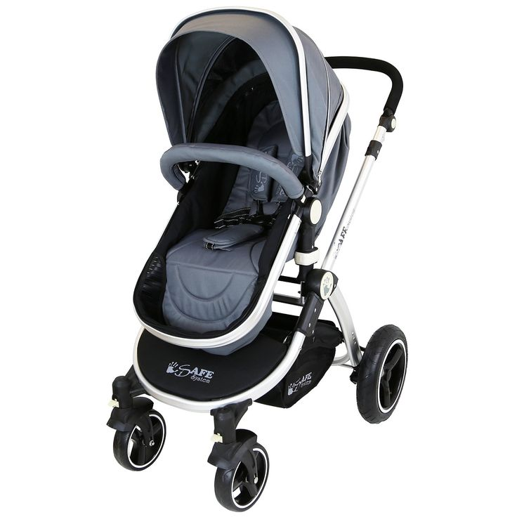 i-Safe System - Grey Trio Travel System Pram & Luxury Stroller 3 in 1 Complete With Car Seat: Amazon.co.uk: Baby