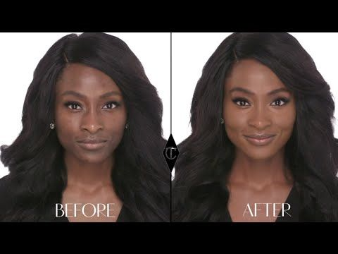 How to cover up large pores: Charlotte Tilbury Magic Foundation Makeup Tutorials with BeautybyJJ - YouTube
