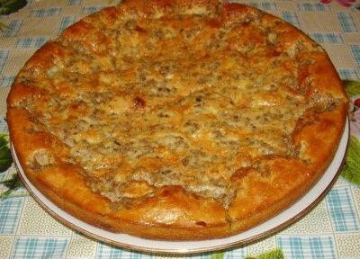 Универсальный экспресс-пирог с  любой  начинкой***Для теста необходимо смешать  2 яйца, стакан муки, стакан кефира, 1/2 ч.л. соды и щепотку соли. Для заливки слегка взбить 2 яйца с 2 ст.л. майонеза, посолить.   Начинка: у нас сегодня рыбный пирог , поэтому...