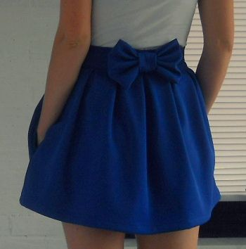 skirt with bow