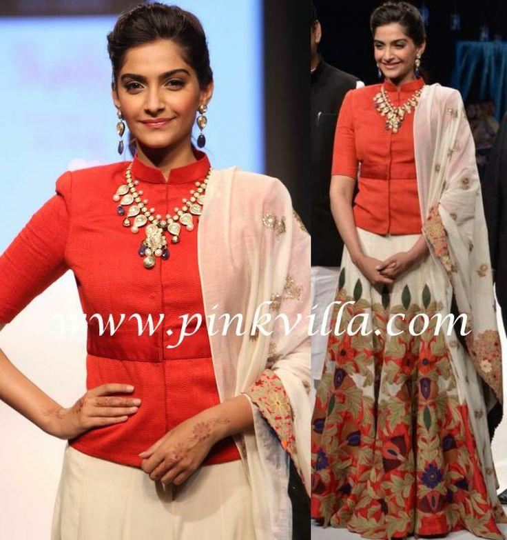 Sonam Kapoor dons Anamika Khanna...,innocent face :-*