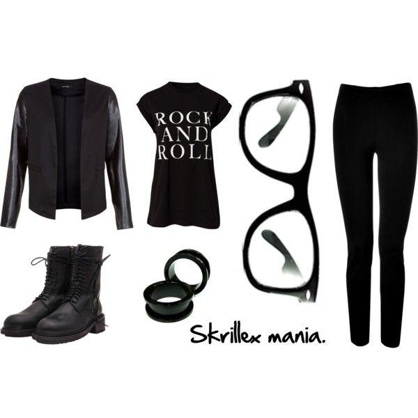"""Skrillex's outfit."" by hildegardhalvorsen on Polyvore"