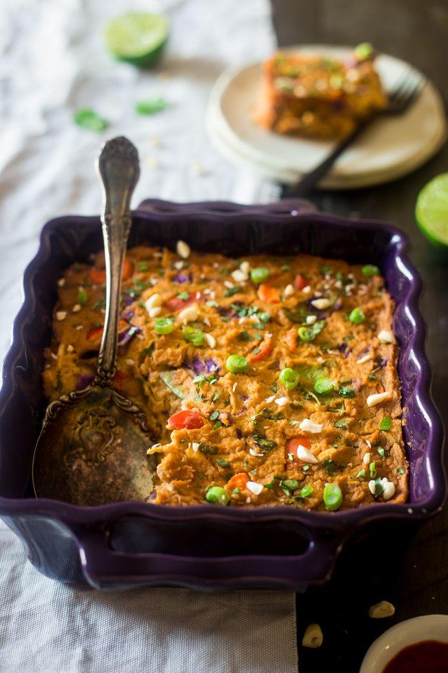 Cauliflower Casserole with Thai Chicken | Cauliflower Casserole, Thai ...