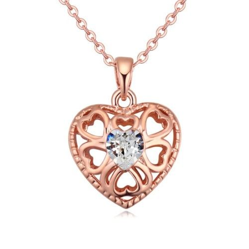 $9 Closed heart in stone Swarovski crystal necklace - Jewelry Wholesale. BEST PRICE: Directly in the jewelry factory. VAT-free shopping: Available, partners based in the European Union, only applies to EU tax identification number (UID). Exclusive design SWAROVSKI crystals and AAA Zircon crystal jewelry and men's stainless steel jewelry and high-quality stainless steel jewelry for couples sell in bulk to resellers! Please contact us.