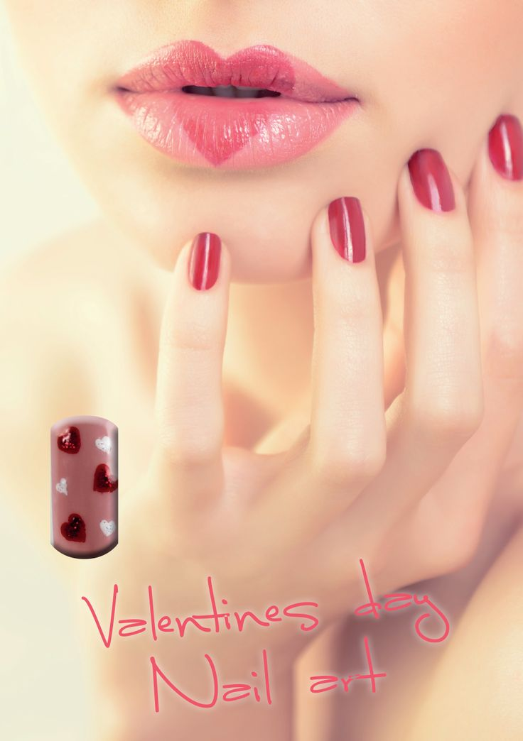 Nail art inspiration for Valentine's Day. #nailart #NailCreation