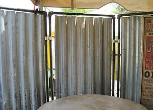 Industrial Upcycled Steam Punk Tin Metal Room Divider