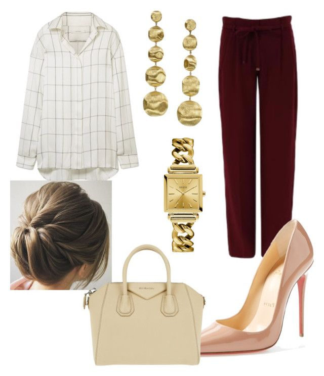 """""""Untitled #29"""" by devih on Polyvore featuring FRNCH, The Row, Christian Louboutin, Marco Bicego, Givenchy and GUESS"""