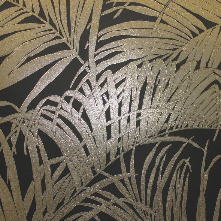 Kiss Foil Bronze Palm Leaf Wallpaper Wallpaper Fads Leaf Wallpaper Palm Trees Wallpaper Palm Leaf Wallpaper
