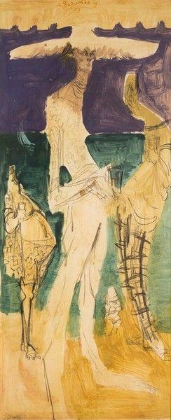 Feliks Topolski Oil and watercolour on paper