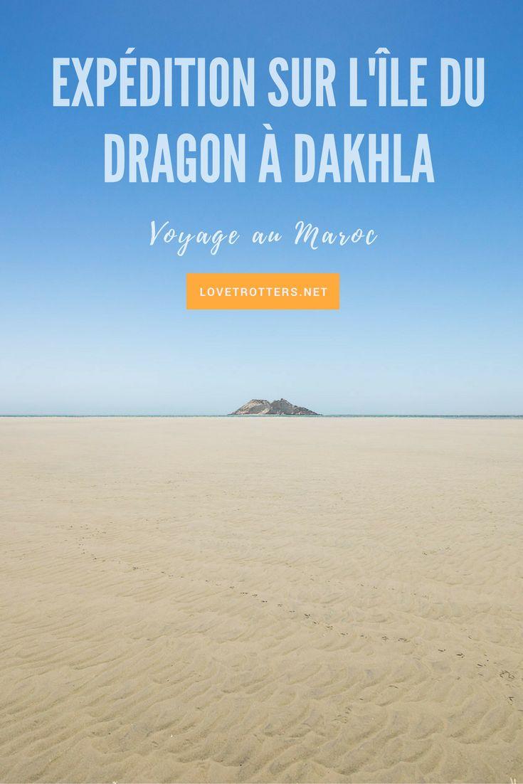 Expédition en voilier vers l'île du dragon à Dakhla au sud du Maroc