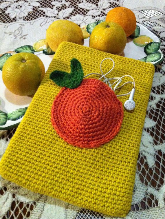 Crochet iPad/tablet/laptop cover,case,sleeve,cosy with pocket. PDF PATTERN.