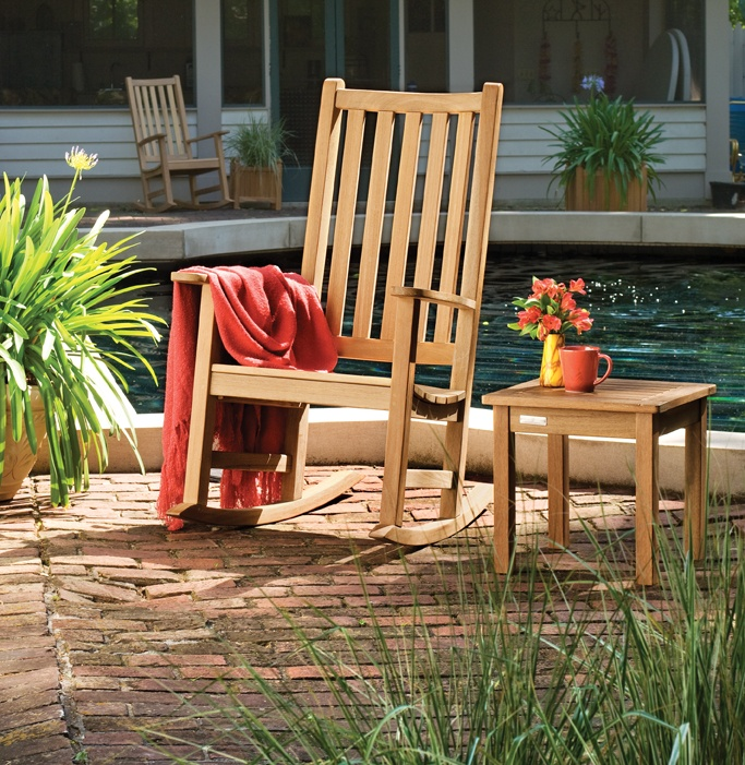oxford garden franklin rocking chair outdoor rocking chairs at hayneedle dimensions x x inches