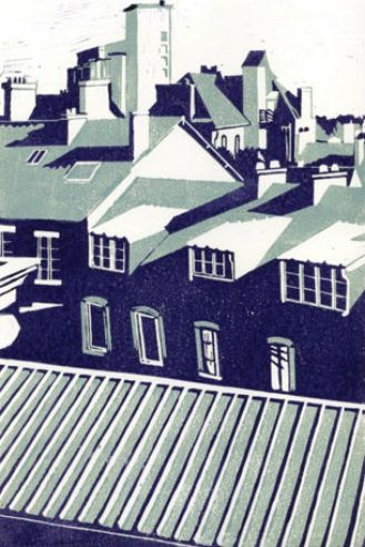 St Malo Rooftops by Maxine Copeland