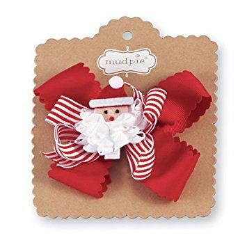 Mud Pie Night Before Christmas Baby Girl 3-in-1 Holiday Hair Bows, Santa Review