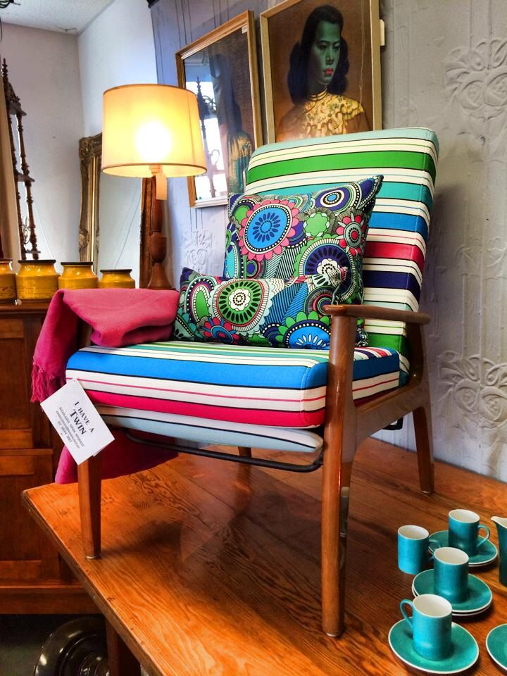 Retro vintage 1960s Chair  - Homme Upholstery Studio pop up store. Shop 23 Woolloongabba Antique Centre. Come visit us today or contact us at www.hommeupholstery.com.au info@homme.net.au or 07 3844 3817