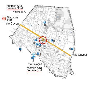 Mappa parcheggi