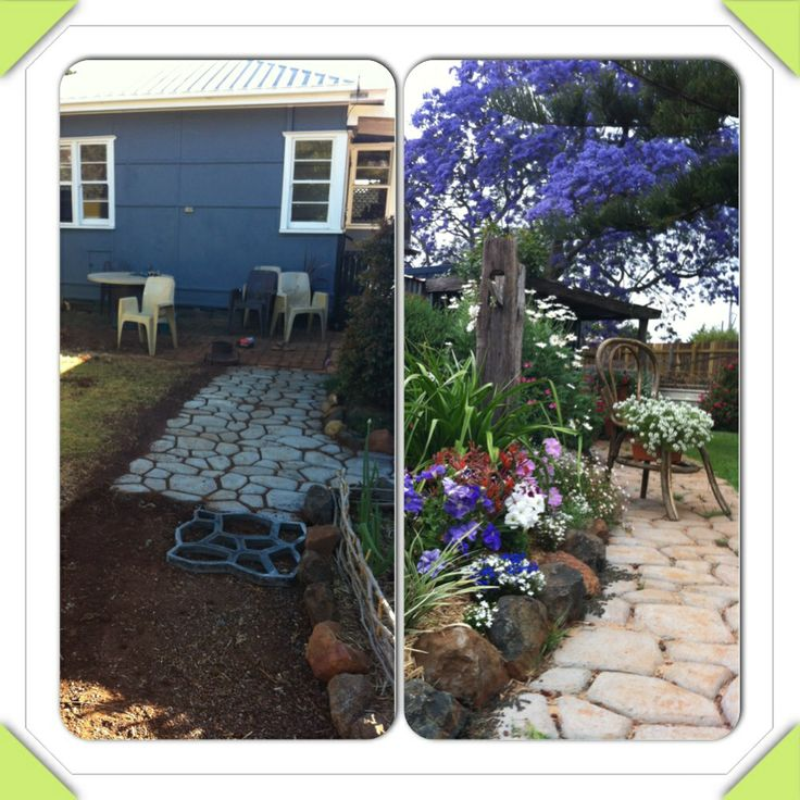 Paver maker. Before and after. Toowoomba.  Australia.