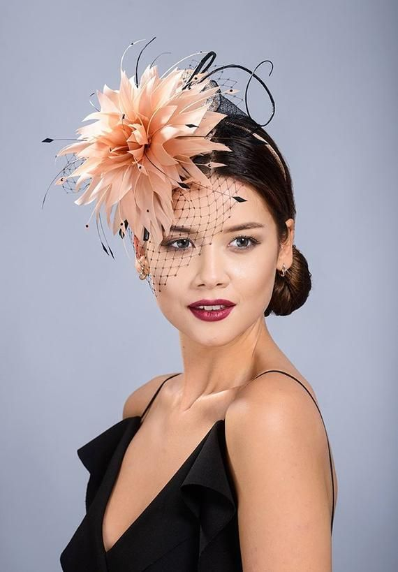 3d92830f2e28b Glamorous large feather flower fascinator for your special occasions- Only 1  pcs available