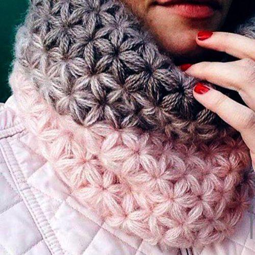 Como Crochê um Ponto de Jasmim - Tutorial (Belas Habilidades - Crochê Tricô Quilting)