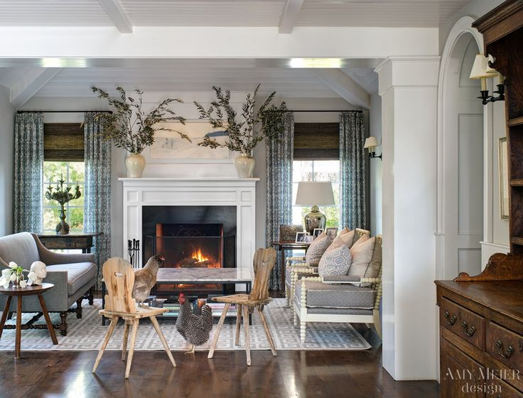 Amy Meier Design. Family Room DesignFamily RoomsFurniture PlacementFormal  Living RoomsLiving SpacesThe ChickenHouse InteriorsWindow TreatmentsMantel  Decor