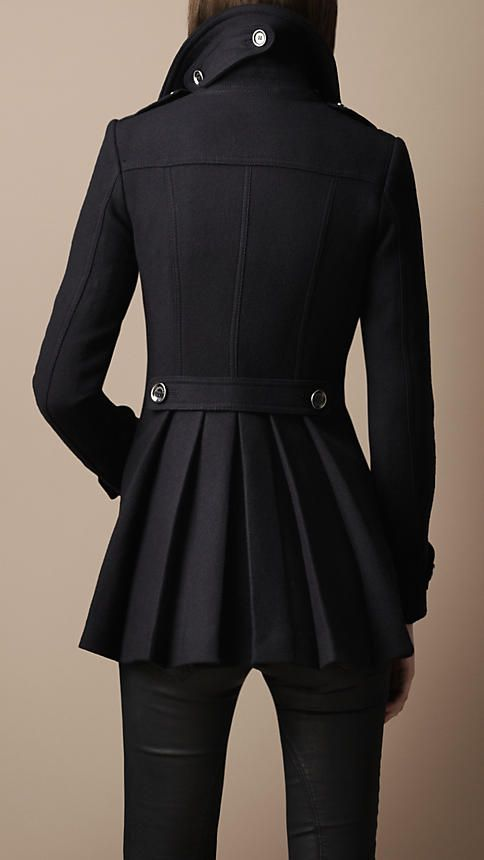 Burberry Back pleat military coat. One day I will also own a