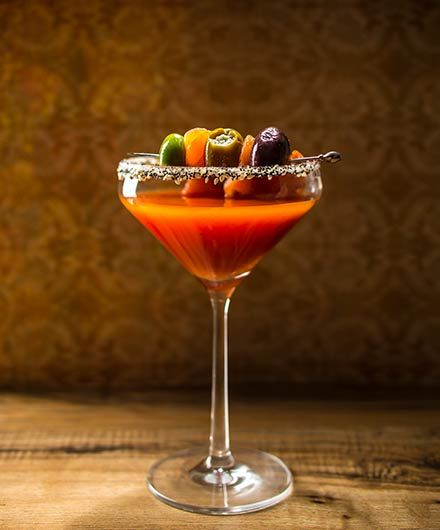 A lively combination of a bloody mary and a martini that's as bold as the city of Manhattan itself. Brought to you by the Bloody Mary Society.