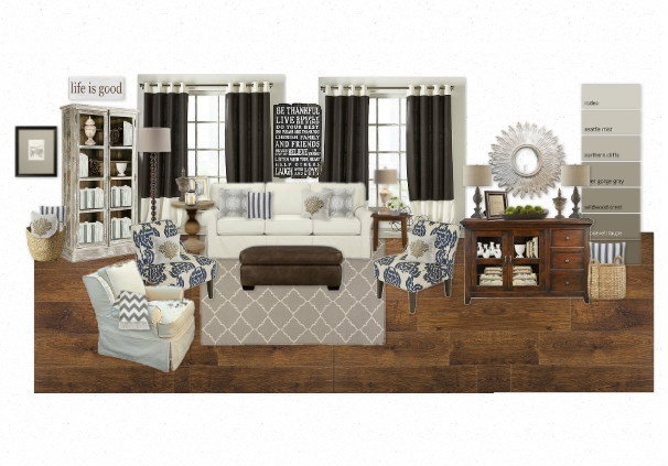 Modern country living room loving this color scheme but - Country living room color schemes ...