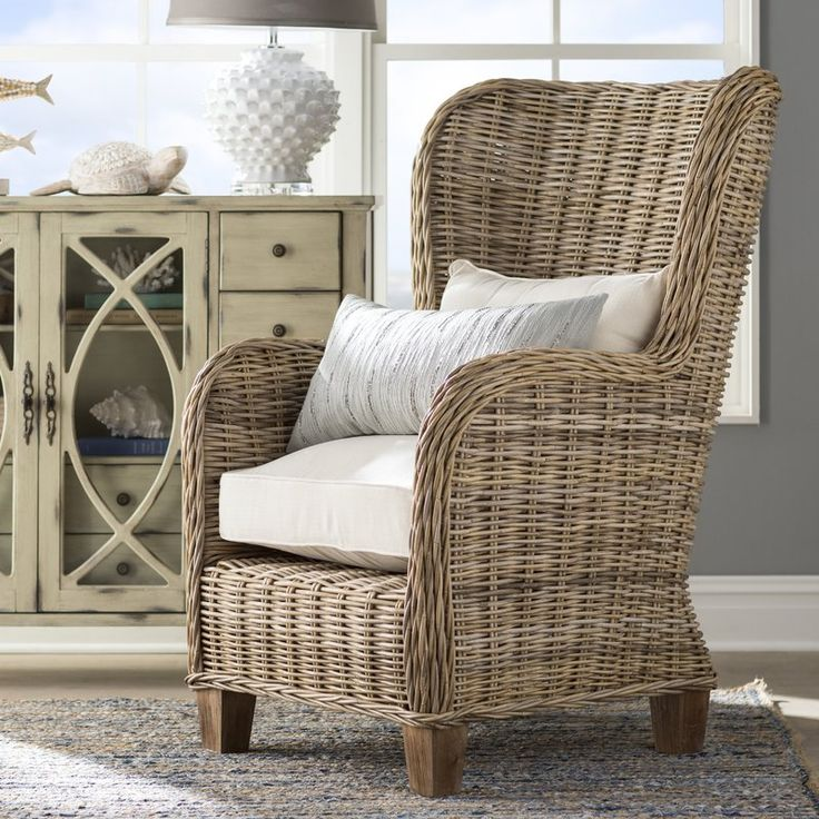 Magness Armchair With Images Armchair Rattan Chair