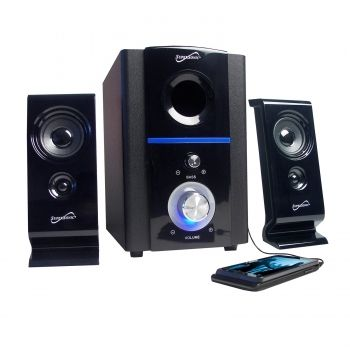 Supersonic 2.1 Multimedia Speaker System with USB/SD Inputs - myaccessoryguy