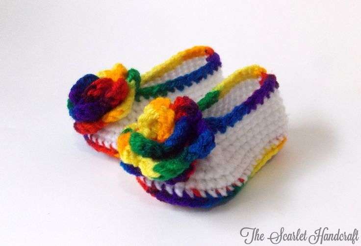 Rainbow Baby Shoes. Rainbow Booties. Crochet Baby Booties. Handmade Baby Shoes. Made to Order. by TheScarletHandCraft on Etsy
