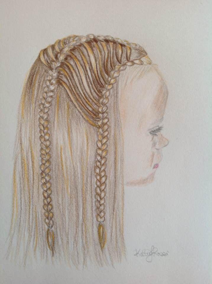Mia drawn by Katie Rossi @abellasbraids