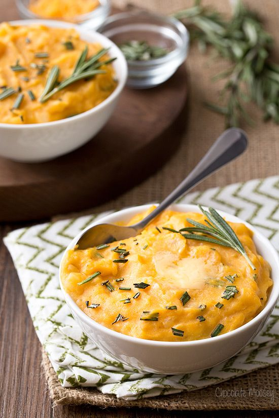Whether you have leftover canned pumpkin to use up or are looking for a twist on a Thanksgiving classic, Cheddar Pumpkin Mashed Potatoes with rosemary is total comfort food in a bowl.