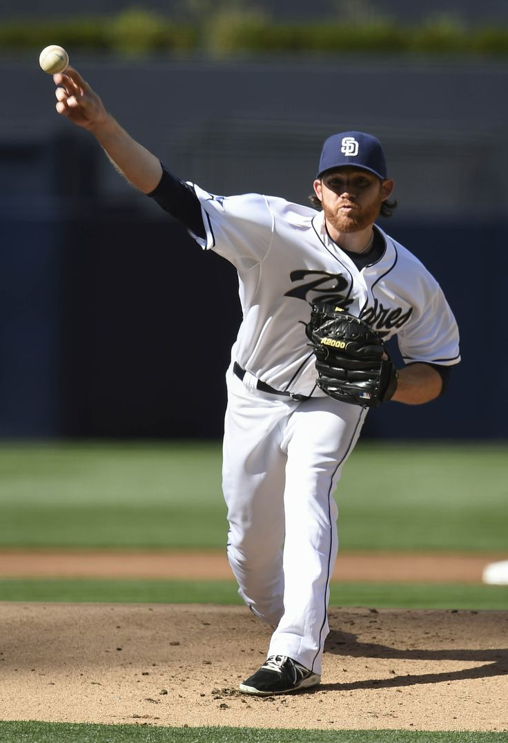 SAN DIEGO, CA - APRIL 1: Ian Kennedy #22 of the San Diego Padres pitches during the first inning of a baseball game against the Los Angeles Dodgers at Petco Park April 1, 2014 in San Diego, California. (Photo by Denis Poroy/Getty Images)