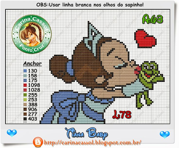 Baby Tiana perler bead pattern by Carina Cassol - Pontinhos Mágicos