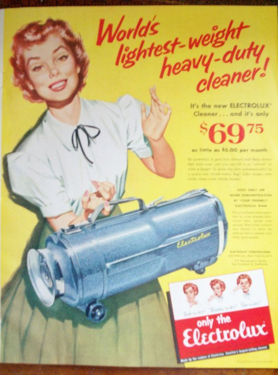 Vintage Magazine Ad 1950 S Electrolux Vacuum Cleaner