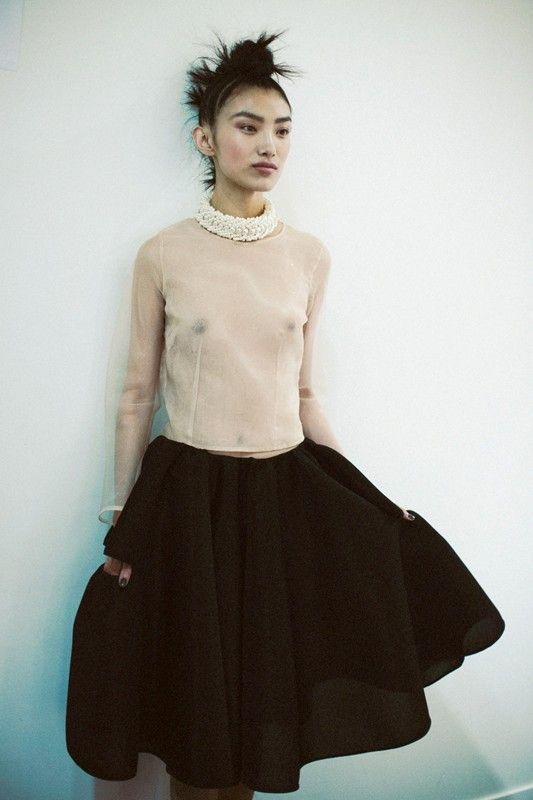 Simone Rocha SS14 Dazed backstage by Lea Colombo