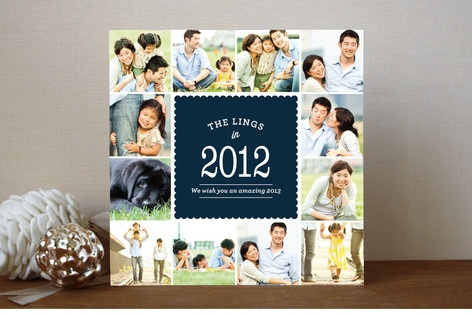 Flashback New Year's Photo Cards by Stacey Hill at minted.com