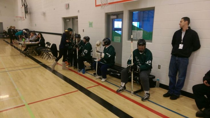 Intense words of wisdom from the floor Hockey D coaches