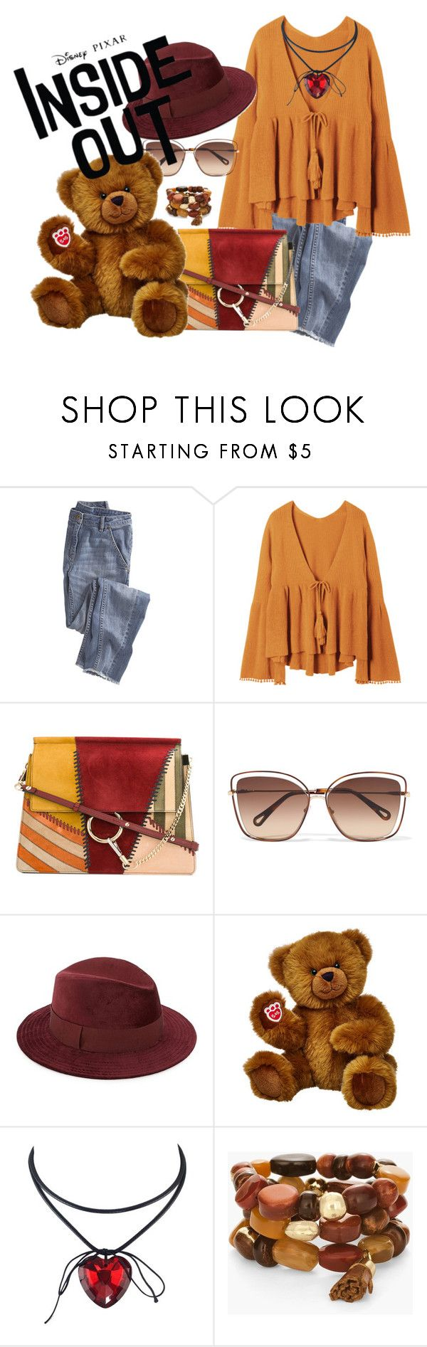 """My teady bear"" by cristinaraposo ❤ liked on Polyvore featuring Wrap, Chloé, Saks Fifth Avenue, Chico's and Disney"