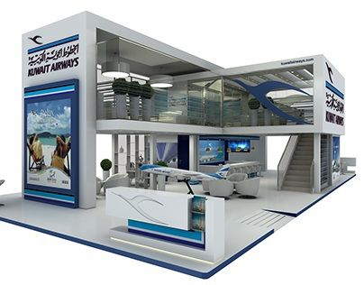 Exhibition Stand Kuwait : Kuwait airways noman stand design booth design kiosk design